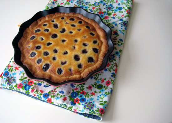 almond cherry crostata