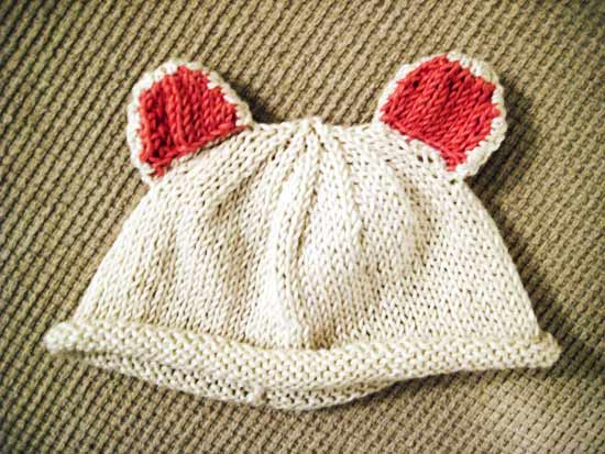 cream bear ears hat