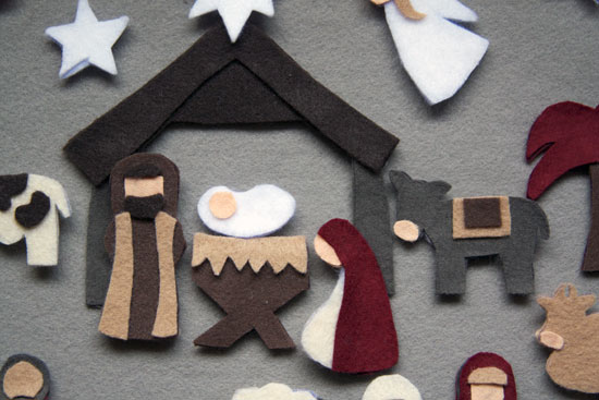 detail felt nativity