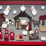 full nativity felt advent